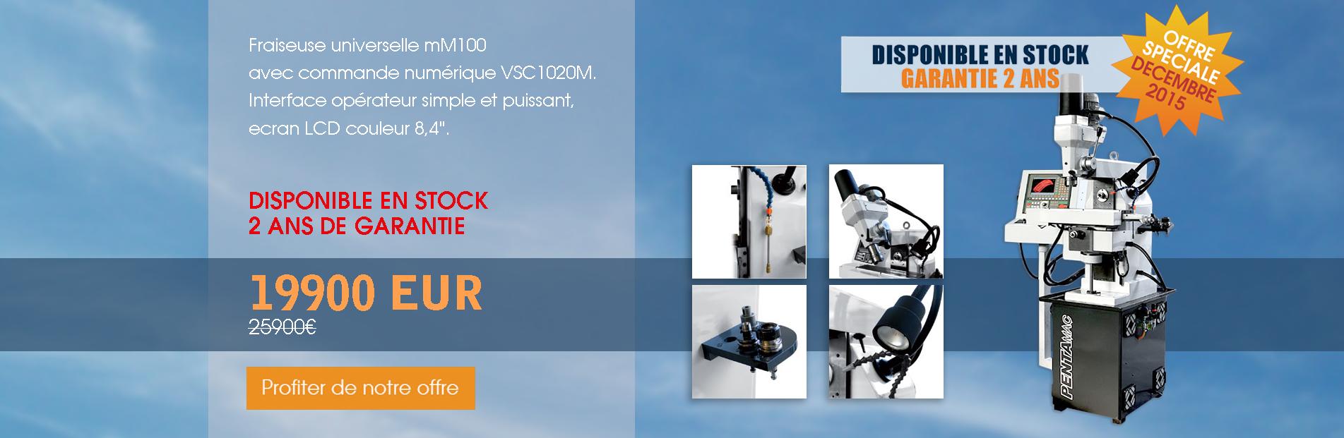 OFFRE SPECIALE | FRAISEUSE A CNC mM100