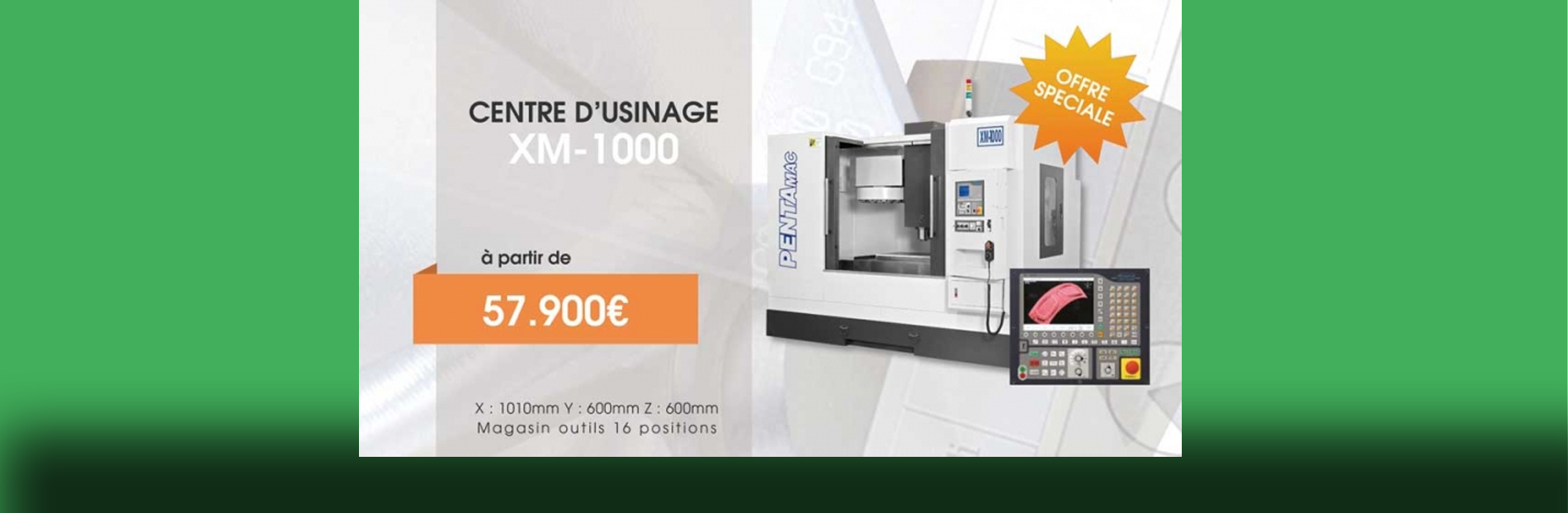 Centre d'Usinage XM-1000-600